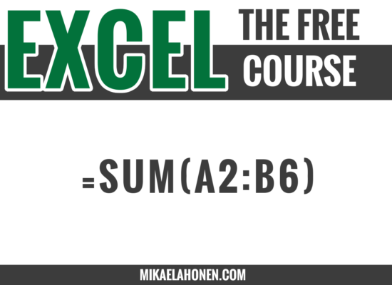 The basics of Excel formulas.