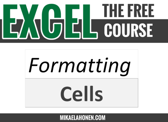 Formatting cells in Excel.