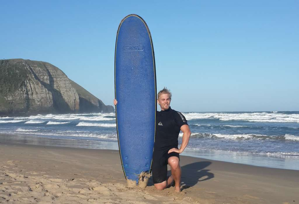 South Africa is well known from its surffing opportunities. The photo is from Coffee Bay. I surffed very first time and managed to surf a couple of waves.