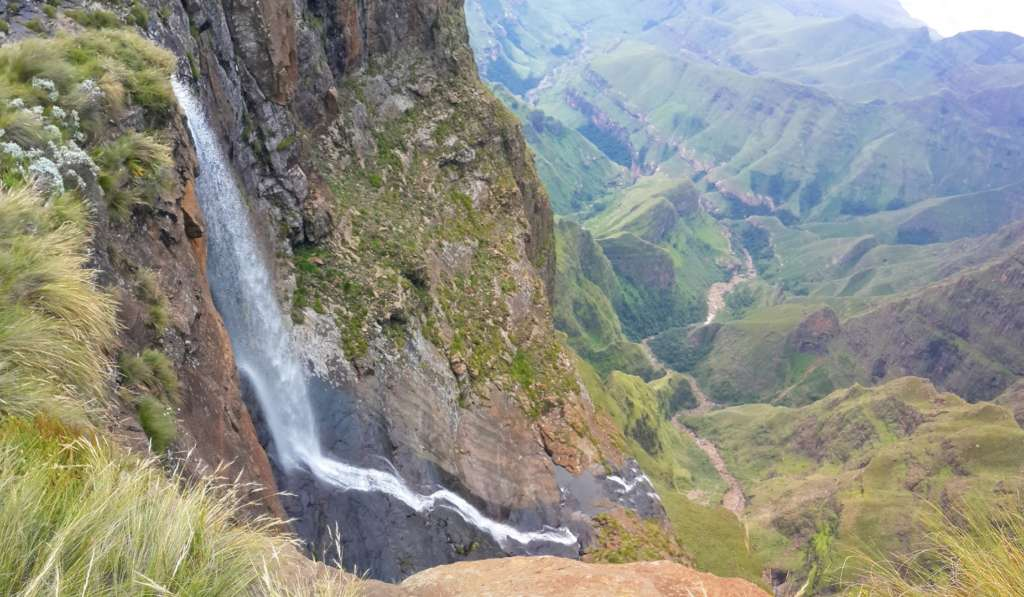 Tugela falls are the second highest of the world. It is actually a cascade with five smaller falls.